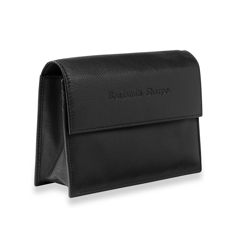 RFID Travel Wallet, Black Monogrammed