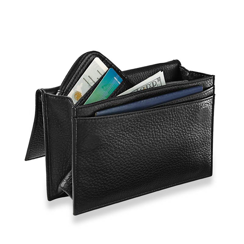 RFID Travel Wallet & Passcase, Black
