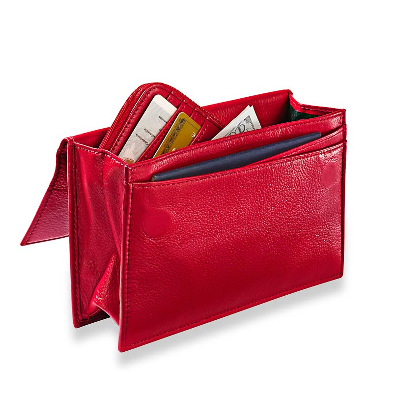 RFID Travel Wallet & Passcase, Red
