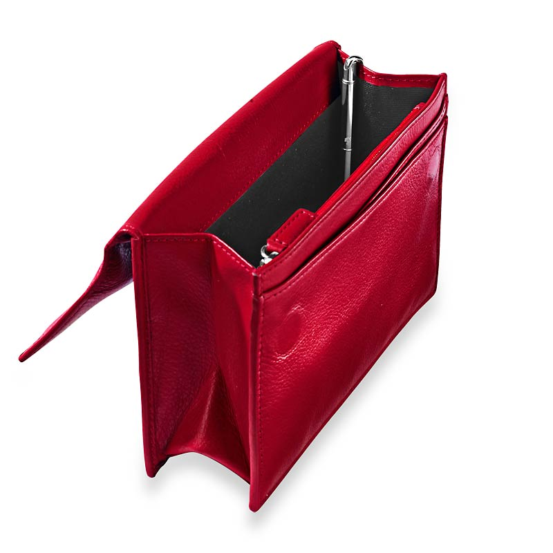 RFID Travel Wallet with Walletini Pen, Red