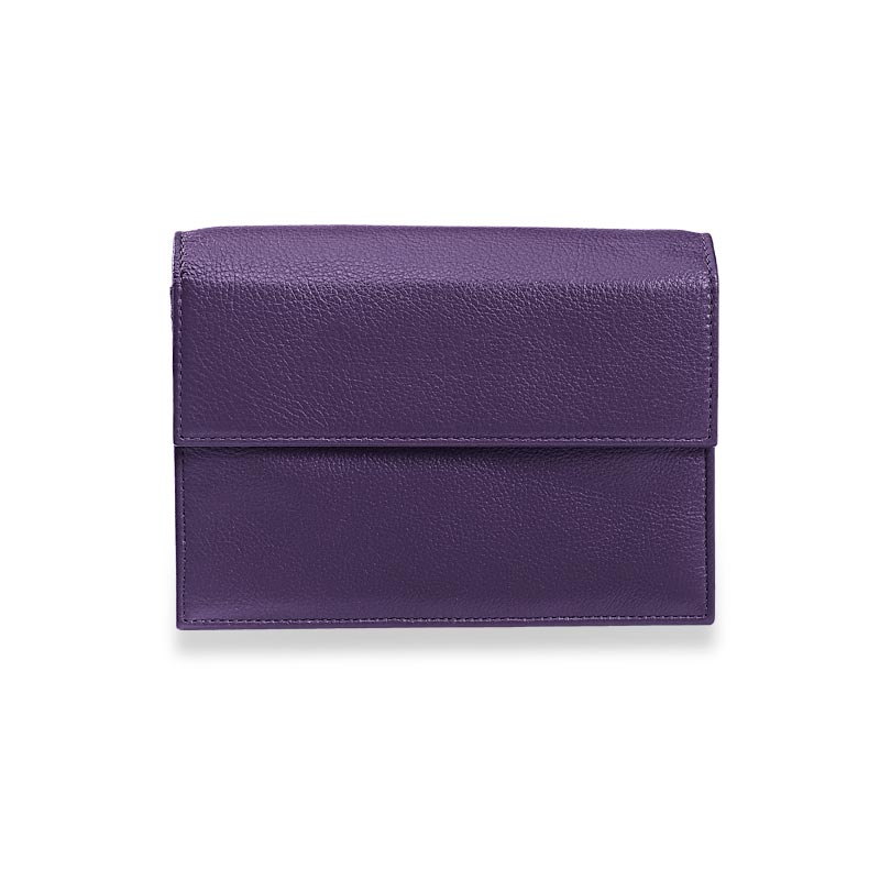 Travel Wallet & Passcase with Walletini Pen, Grape