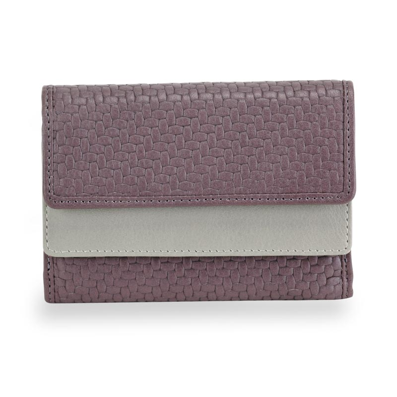 Tuscany Card Wallet, Lavender/Grey