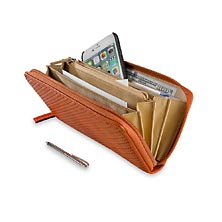 Tuscany Accordion Wallet With Walletini Pen, Sienna