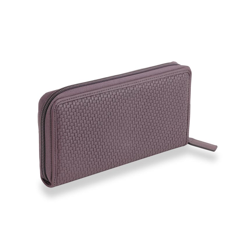 Tuscany Accordion Wallet With Walletini Pen, Lavender/Grey