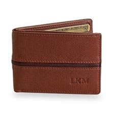Slim ID Wallet with RFID - Brandy