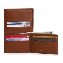 Flipfold Wallet with RFID - Brandy