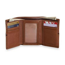 Trifold Wallet with RFID - Brandy