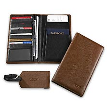 RFID Airport Wallet & Luggage Tag, Brown