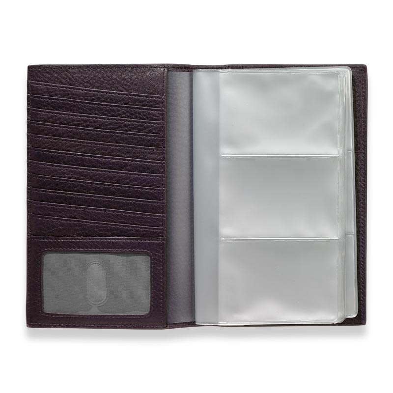 Envelope Business Card Organizer, Grape
