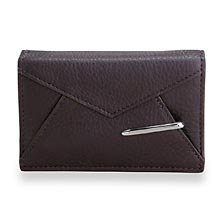 Envelope Card Wallet with Walletini Pen, Grape