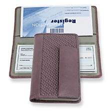 Tuscany Checkbook Cover, Lavender/Grey