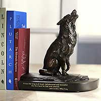 AD6155 Jack London's Wolf Bookend - White Fang