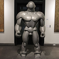 The original Wrestler at the Wolfsonian-FIU