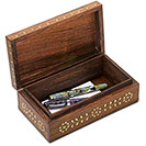 Chestnut MyMela Wooden Desk Box 