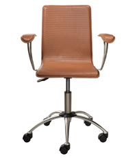 Sprezzatura Armchair, Desk Arm Chair - Levenger :  desk chair office chair leather office chair