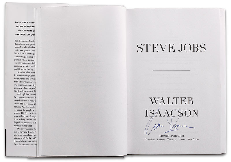 Signed by Walter Isaacson