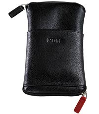 B15HC Semi Hard Black Eyeglass Case With Zipper  Clip