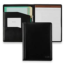 tri pocket leather folder