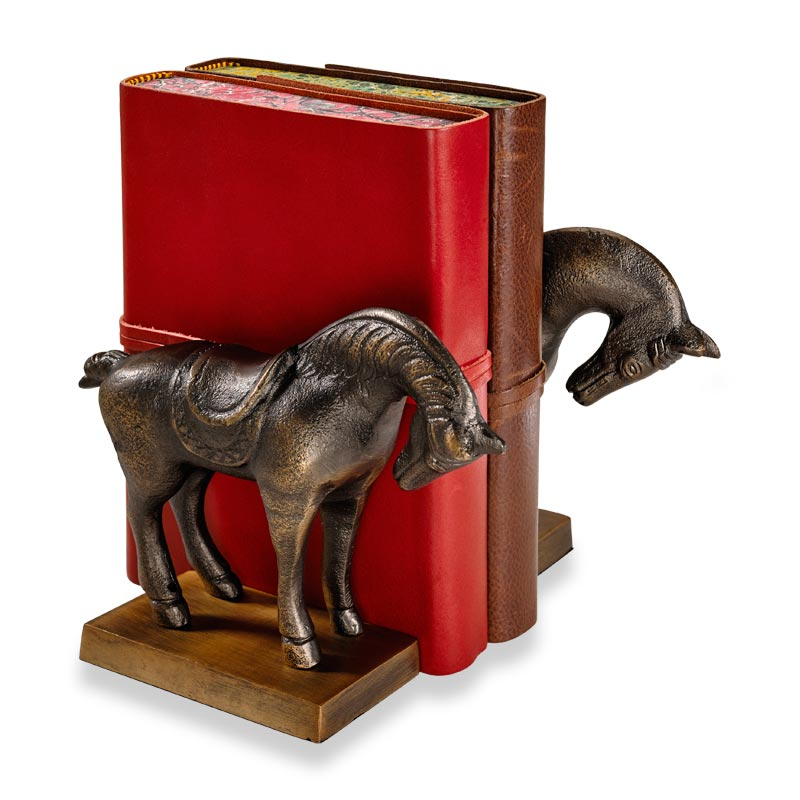 Thoroughbred bookends levenger - Sturdy bookends ...