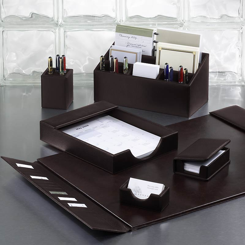bomber jacket desk set six pieces leather desk. Black Bedroom Furniture Sets. Home Design Ideas