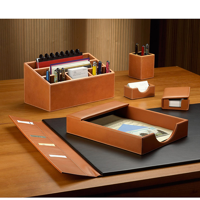 desk set six pieces leather desk set desk accessories levenger