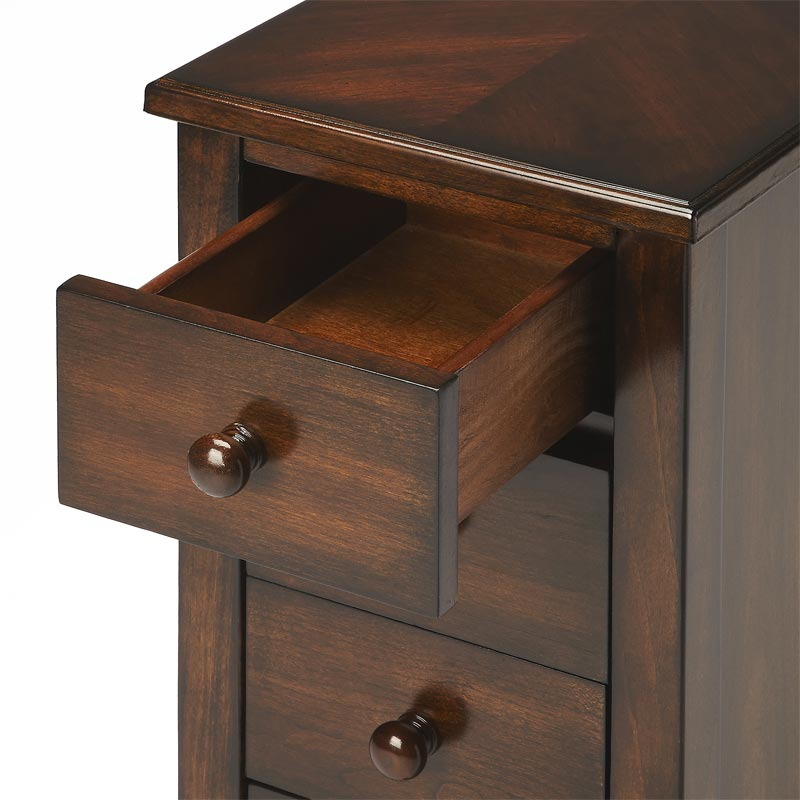 Chairside Storage Table with Drawers Levenger