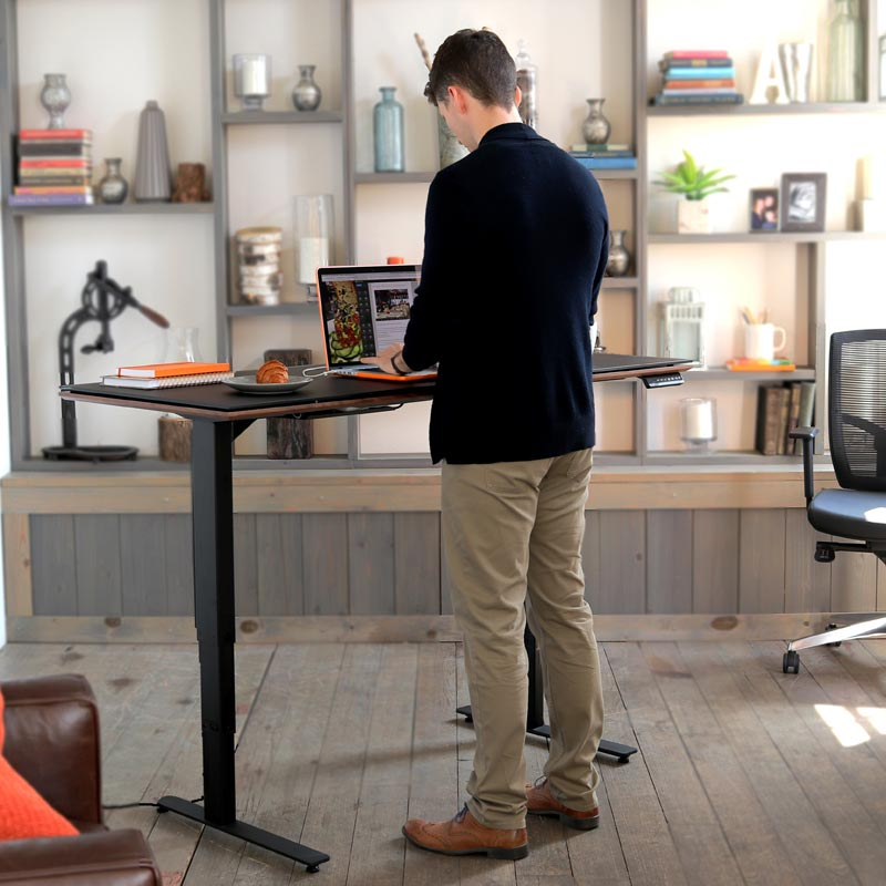 Sequel Lift Desk   Chocolate Stained Walnut
