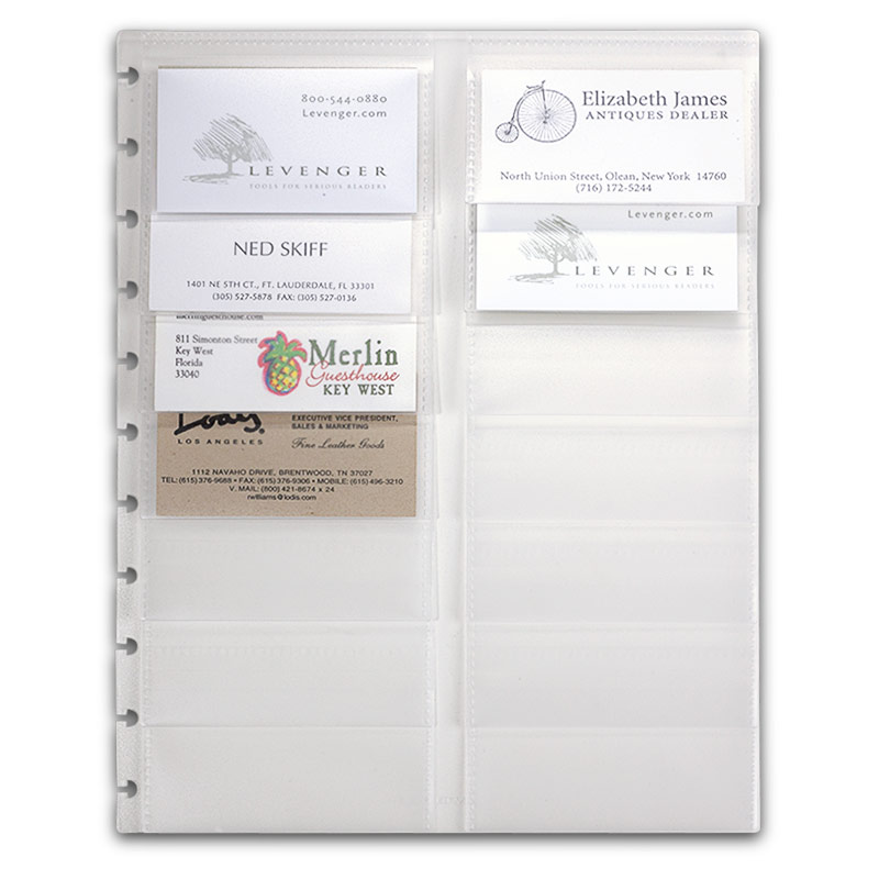 Clear Holder For Business Card And Letter