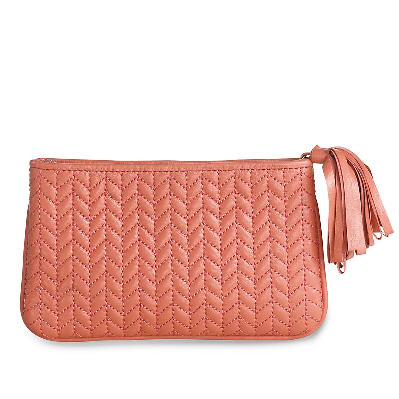 En Vogue Quilted Pouch Medium Levenger