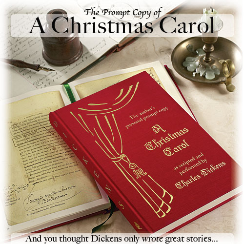 Levenger Press - The Prompt Copy of A Christmas Carol as scripted and performed by Charles Dickens