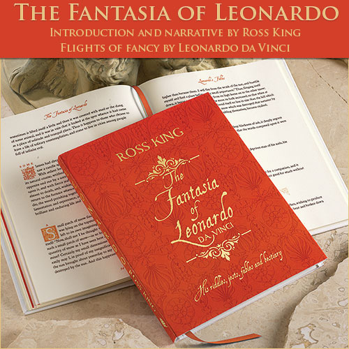 Cover for the book The Fantasia of Leonardo da Vinci by Ross King