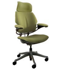 Fabric Ergonomic Freedom <br> Chair w/ Neck Support