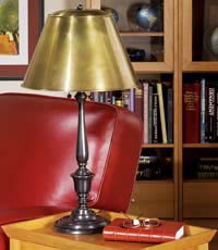 New York Public Library Lamp, Table