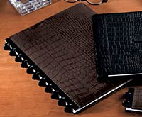 Circa Letter Notebook with Croc Leather Cover