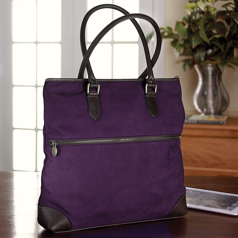 English Nubuck Mollie Bag, Plum