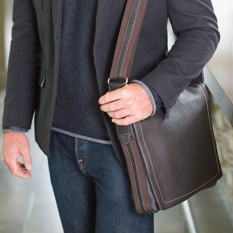 Bomber Jacket Laptop Messenger Bag - Leather Laptop Bag, Laptop ...