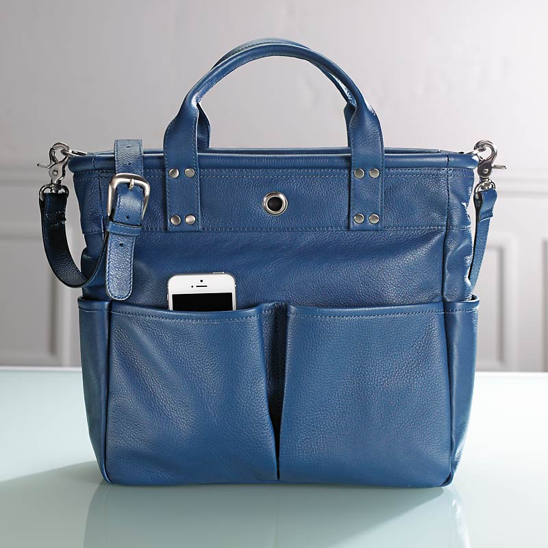 St. Tropez Leather Tote Bag - Tote Bag, Women's Tote - Levenger