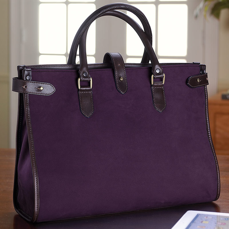English Nubuck Kimbolton Bag, Plum