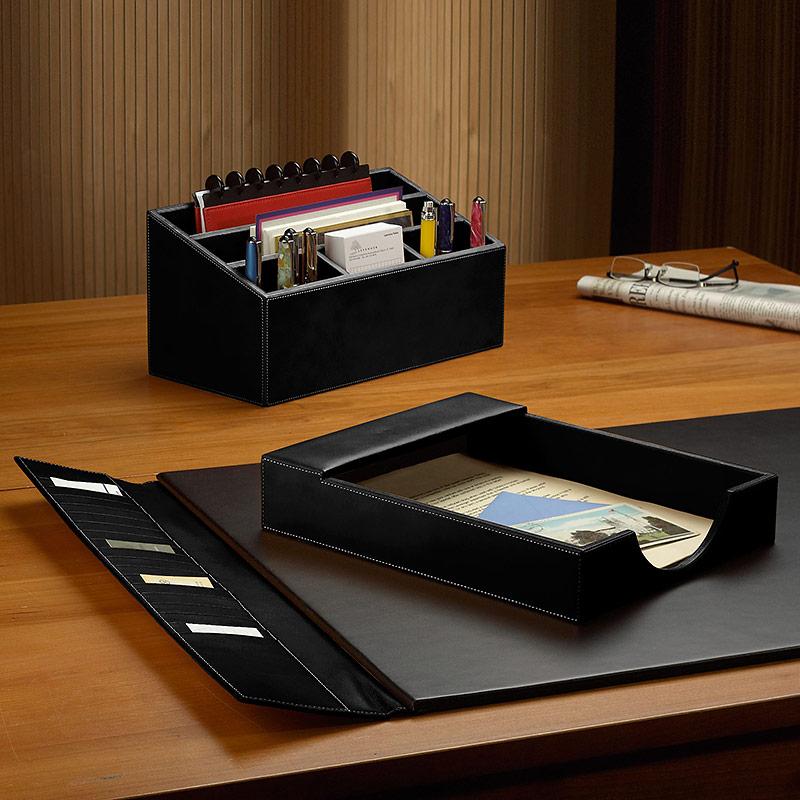 Morgan Desk Set (3 Piece), Black