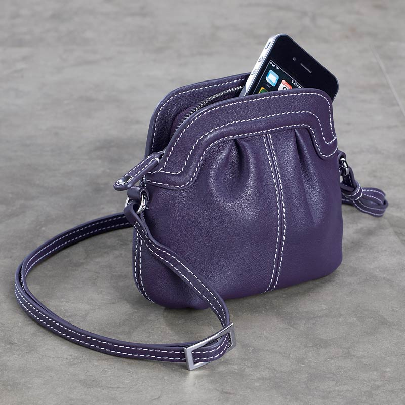 Carezza On-the-Town Pouch, Eggplant