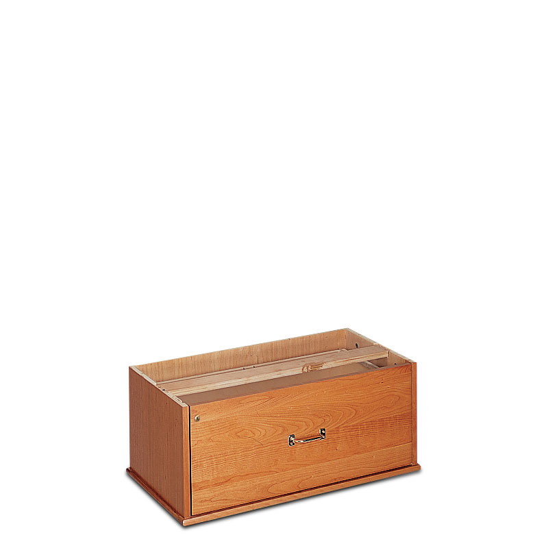 Stackable Lateral Drawer with Lock, Natural Cherry