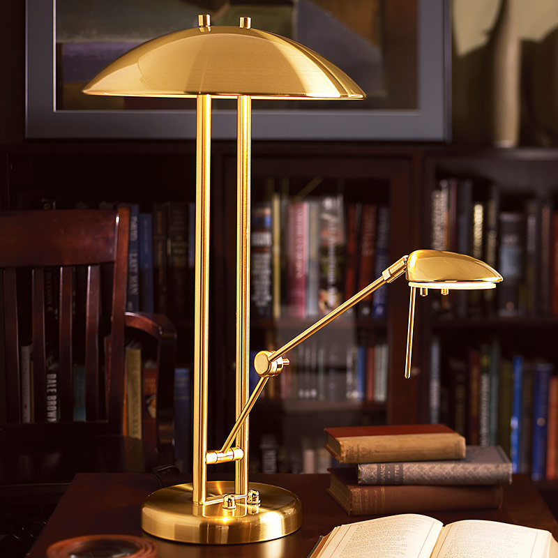 Multitask Lamp, Brushed Brass