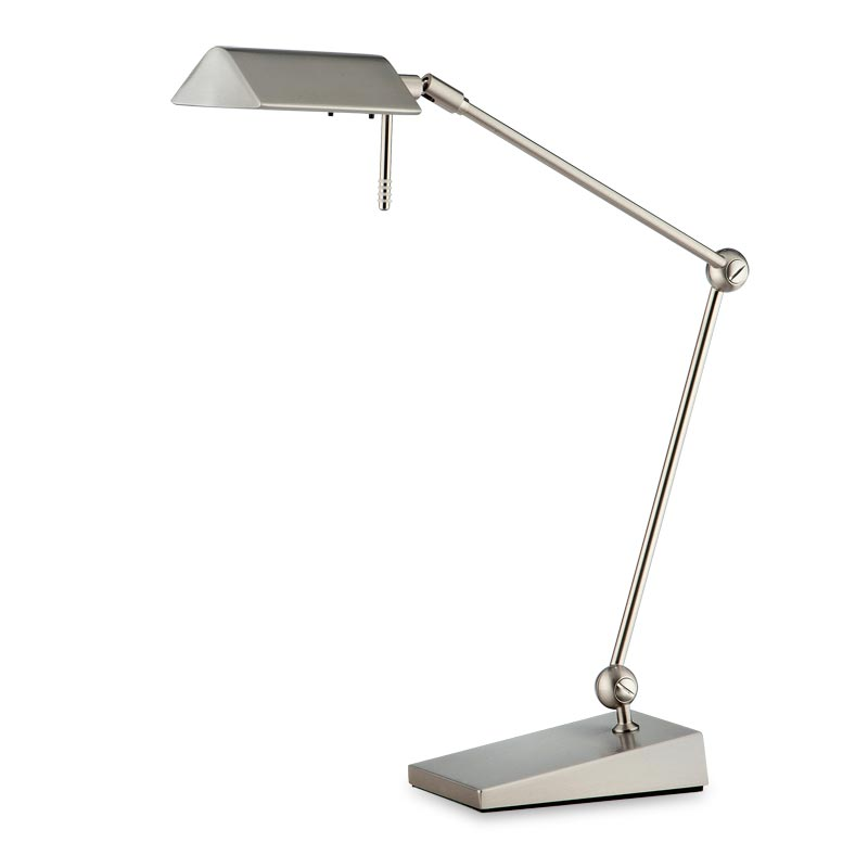 Pharmacy LED Table Lamp, Satin Nickel