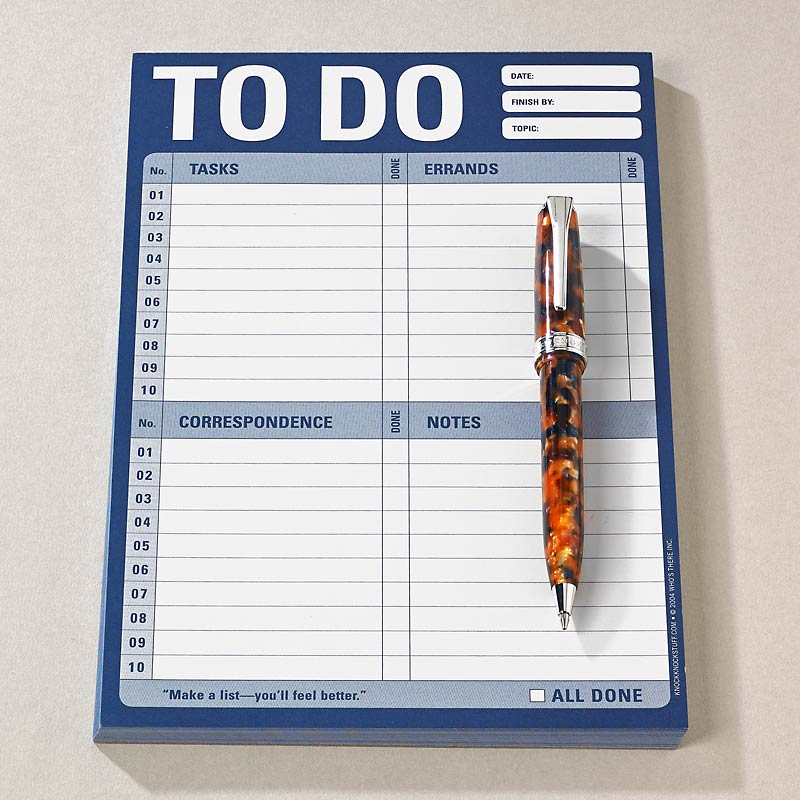 Conquer the Chaos-To Do Note Pad