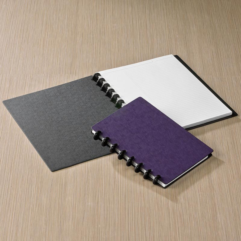 Circa Sliver Foldover Notebook, Grape