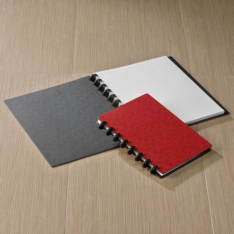 Circa Sliver Foldover Notebook, Red