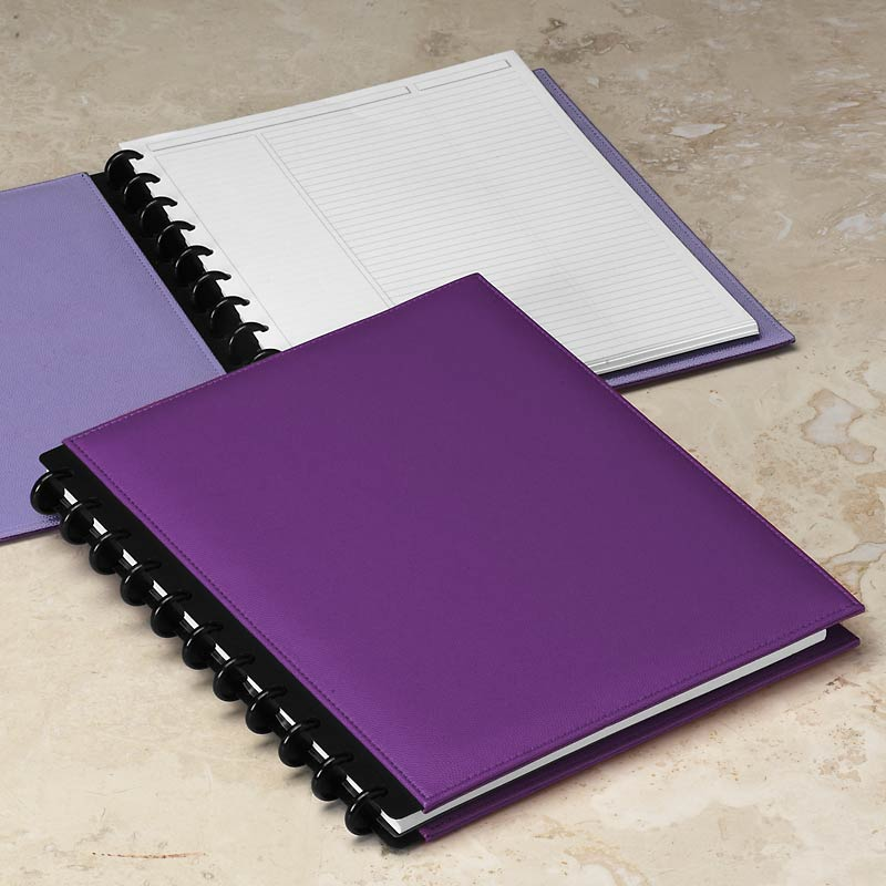 Circa Inside Out Foldover Notebook, Purple