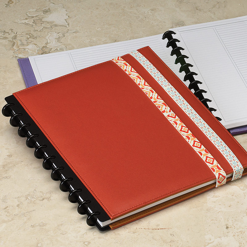 Circa Inside Out Foldover Notebook with Rubber Bands