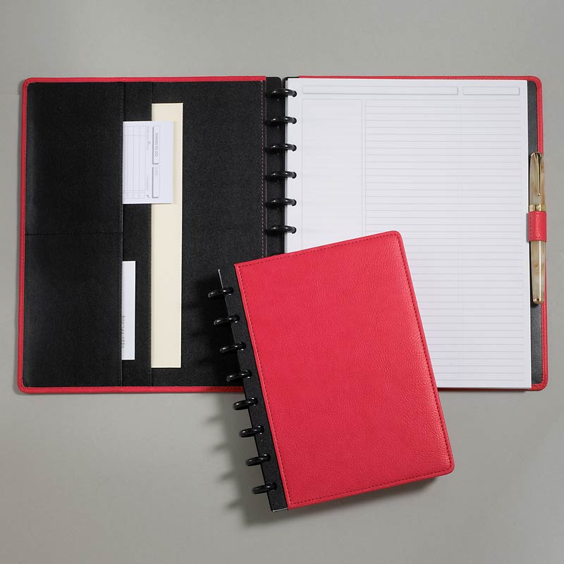 Circa Pebbled LevTex™ Foldover Notebook, Pink