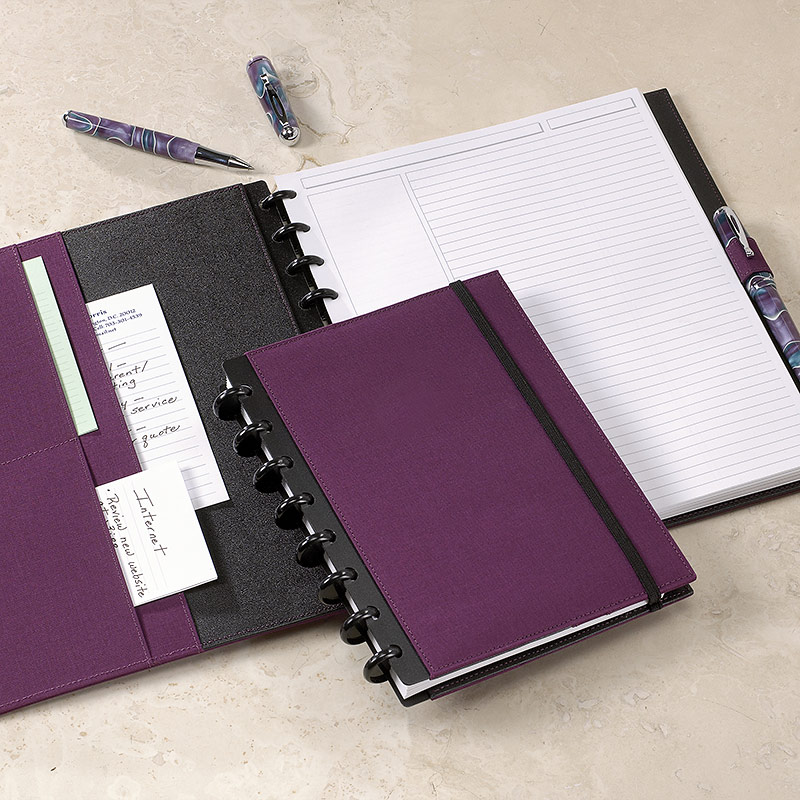 Circa Bookcloth Notebook, Plum